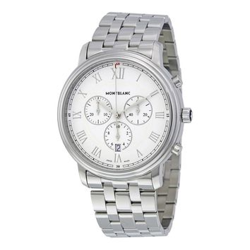 MontBlanc Tradition Chronograph White Dial Mens Watch 114340