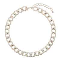 Iridescent Chain Link Necklace