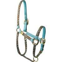 Red Haute Horse GIRT1201 P High Fashion Horse Horse Halter, Giraffe Teal