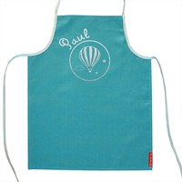 Green Personalised apron with silver prints