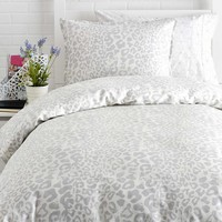 Snow Leopard Duvet Cover Set - Full/Queen