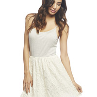 2fer Striped Crochet Tank Dress | Wet Seal