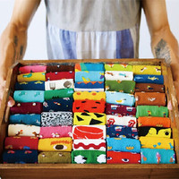 35-43 Caramella Daily Animal Weel SOCKS Watermelon Dachshund Beagle Lion Farm Egg Bull Terrier Elephant Fox Pill Fruit Guard Dog