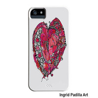 Big Funky Heart iPhone Case, iPhone 5 case, iPhone 5C case, iPhone cases, by Ingrid Padilla, iPhone 5S case