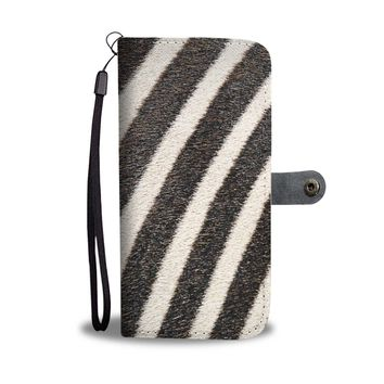 Zebra Print Phone Wallet Case