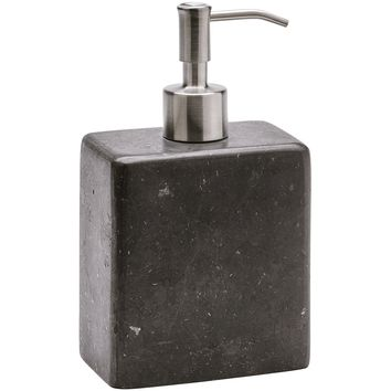 Hammam Square Gray Marble Bathroom or Kitchen Pump Liquid Soap Lotion Dispenser
