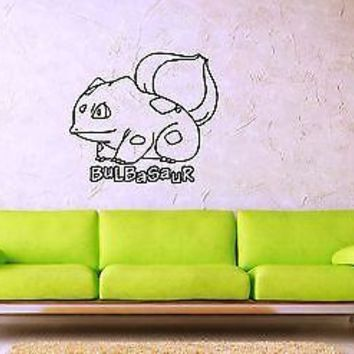 Wall Stickers Vinyl Decal Pokemon Bulbasaur Anime Kid Baby Room Nursery (ig1094)