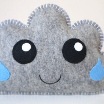 Grey Cloud, Cloud Pillow, Soft Toy,  Kawaii Cloud, Cloud Softie, Baby Gift, New Baby, Shower Gift, Nursery decor