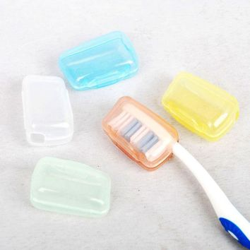 Vorkin 5pc lot Toothbrush Cover Brush Cap Case Portable Travel Hiking Camping Free Shipping