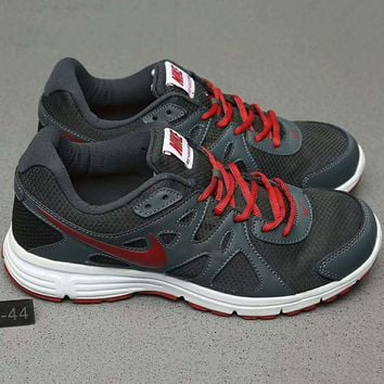 Tagre™ Nike REVOLUTION 2 MSL Women Casual Running Sport Shoes Sneakers Dark grey+Red G-A0-HXYDXPF