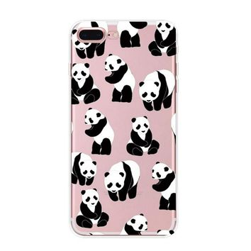 i am a Panda Case iPhone X 8 7 6s 6 Plus Cover with Gift Box
