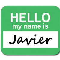 Javier Hello My Name Is Mouse Pad