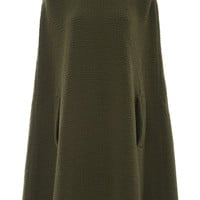 Military Green Long Cape | Moda Operandi