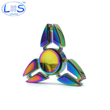 Tri-Spinner Fidget Toys Pattern Hand Spinner Metal Fidget Spinner and ADHD Adult decompression toys Action