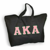 $20 Alpha Kappa Alpha Lettered Tote Bag