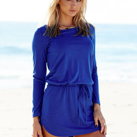Creative Round-neck Long Sleeve One Piece Dress [4918633348]