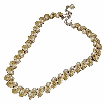 Thom Brown 70'S Pearl Leaf Necklace