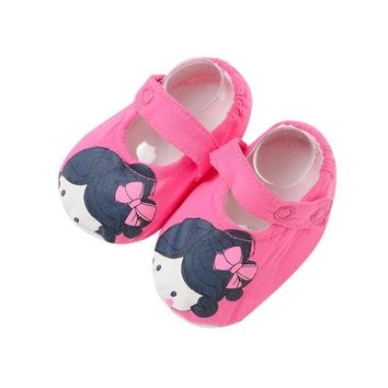4 pcs a lot Cotton fabric Baby girl Crib Shoes Newborn Girl Baby Shoes flower Soft Sol