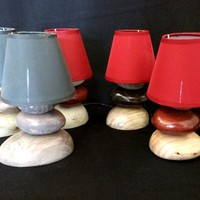 BoGaLeCo.com / Ligths / Lamps / reclaimed wood / Small pebbles wooden lamp