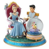 "Fantasies Come True - Disney collectibles and memorabilia - Cinderella & Prince Charming ""Glass Slipper"" musical snowglobe - Birds (from Cinderella) Cinderella Gus Jaq Prince Charming"