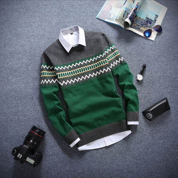 Long Sleeved Sweater Green