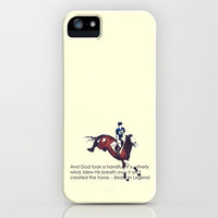 Bedouin Legend - Horse iPhone Case by Camille Cullinan