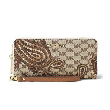 LMFON MICHAEL Michael Kors KORS STUDIO Paisley Jet Set Travel Continental Wallet