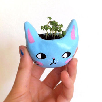 Tiny Kitty Planter