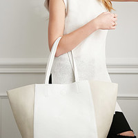 Colorblocked Faux Leather Tote