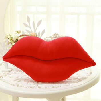 Cushion Doll Lip Shaped Travel Pillow Home Decor Neck Pillows Plush PP Cotton Bed Body Pillow Pink Red Almohada Viaje