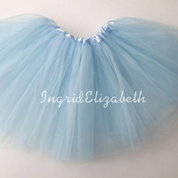 Light Blue Tutu Skirt Ballet Tutu with Belt Loop / FAST SHIPPING / Child Toddler Costume