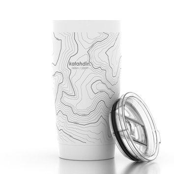 Topography Map 20 oz Insulated Tumbler