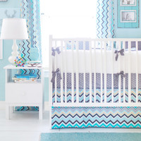 New Arrivals Piper in Gray Baby Bedding
