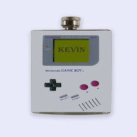 Gameboy, game boy Personalized Custom Flask, game boy, nintendo