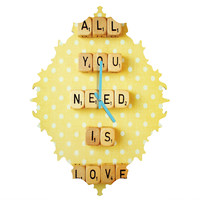 Happee Monkee All You Need Is Love 1 Baroque Clock