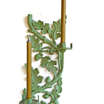 Cast Iron Wall Art, Vintage Wall Sconces, Cast Iron Candle Holders, Cast Iron Wall Decor,  Wall Hanging Candleholder, Metal Candleholders