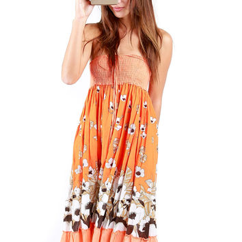 Orangesicle Sun Dress - Vintage