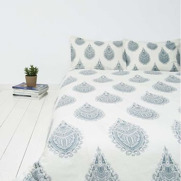 Cato Grey Henna Block Duvet Cover - Urban Outfitters