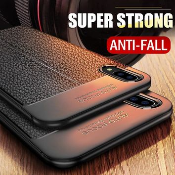 H&A Luxury Litchi Leather Pattern Phone Case For iPhone X Soft TPU Silicon Shockproof Cover For iPhone X 10 Protective Case