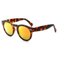 Leopard Print Frame Orange Lens Sunglasses