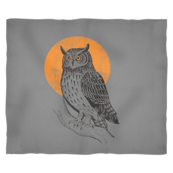 "Owl Fleece Blanket by Living You Co | Owl Blanket, Owl Throw Blanket, Night Owl Moon Blanket | Keep You and Your Loved Ones Warm | Small 40"" x 30"", Medium 60"" x 50"", Large 80"" x 60"""