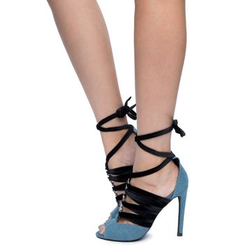 Cape Robbin Alza-83 Women's Denim High Heel