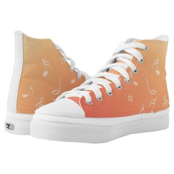 Peach Music Printed Shoes