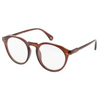 Brown Oversized Plastic Eyeglasses by Charlotte Russe