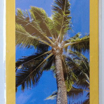 Palm Tree Graduation Father's Day Maui Photo Greeting Card