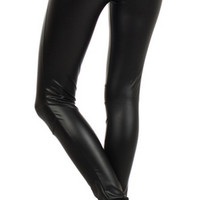 Faux-Leather Leggings