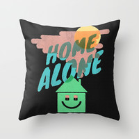 Home Alone Throw Pillow by Nick Nelson