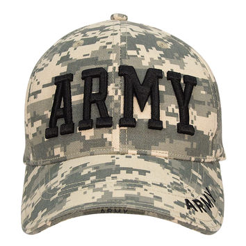 Army Embroidered Deluxe Low Profile Insignia Cap