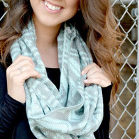 Frosted Snowflake Scarf