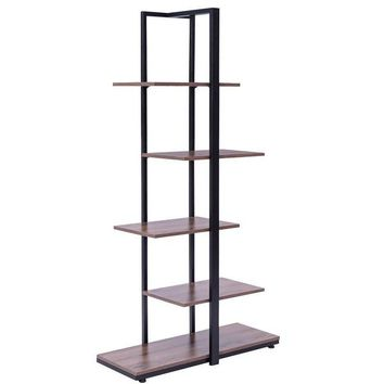 Costway Bookcase 60'' Modern Open Concept Display Etagere Display Shelf Bookshelf Tower | Overstock.com Shopping - The Best Deals on Office Storage & Organization